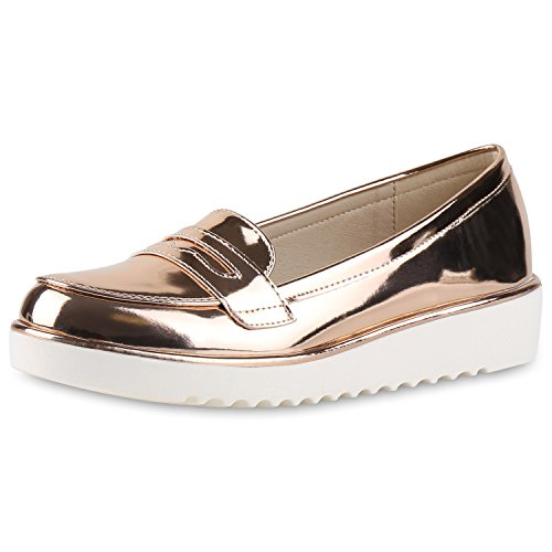 napoli-fashion - Mocasines Mujer Rose Gold Metallic