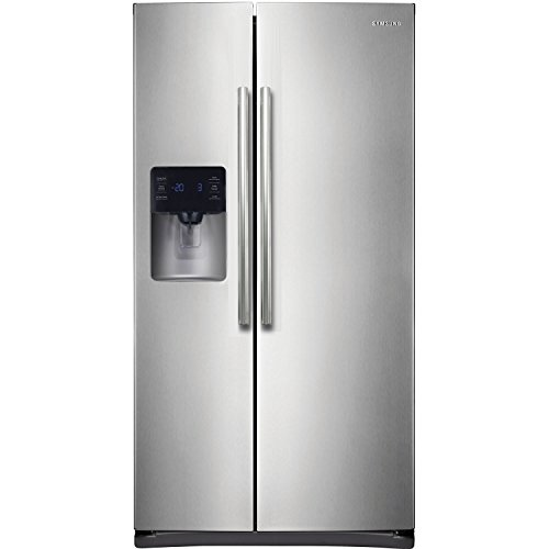 (Samsung RS25H5111SR Energy Star 24.5 Cu. Ft. Side-by-Side Refrigerator/Freezer with External Water/Ice Dispenser and In-Door Ice Maker, Stainless Steel)