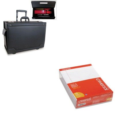 KITSTB341626BLKUNV20630 - Value Kit - Stebco Wheeled Catalog Case (STB341626BLK) and Universal Perforated Edge Writing Pad (UNV20630) by Stebco
