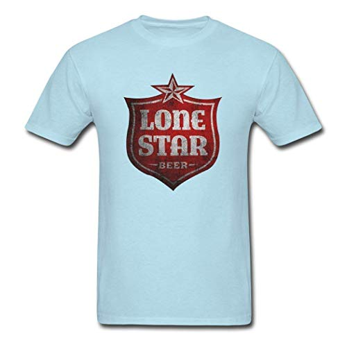 Men's Short Sleeve SkyBlue Soft Hot Lone Star Beer T-Shirts,Bb,X-Large ()