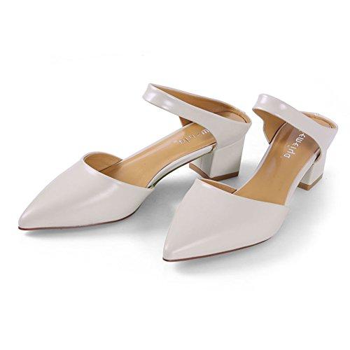 Bastante áspero con media zapatillas/Fuera de las sandalias retro de baotou B
