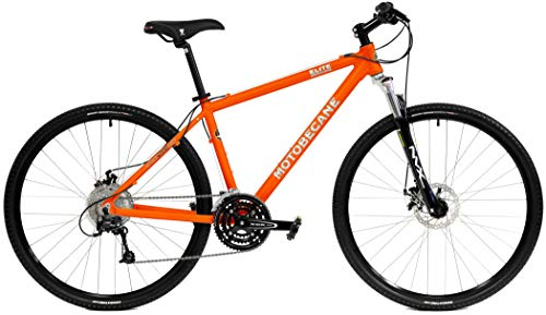 Motobecane 2019 Elite Adventure Aluminum 27 Speed Front Suspension Hybrid Bicycle