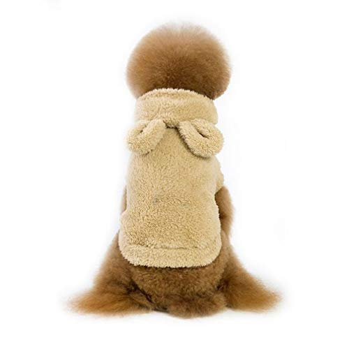 EBRICKON Classic Winter Warm Dog Clothes for Small Dogs Thicken Puppy Pet Cat Coat Jacket Chihuahua Yorkshire Clothing ()