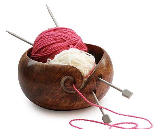 NauticalMart Deal for The Day - AB Handicrafts - Mango Wooden Yarn Bowl 6 inch for Knitting, Crochet for Moms, Grandmothers by NAUTICALMART (Image #3)
