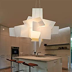 WY Ceiling Fixture Pendant Lamp New Chandeliers Modern Chandelier Acrylic Boom Big Bang White Stacked Chandelier, White
