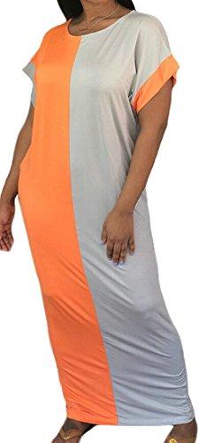 Dress Domple Color Summer Maxi Contrast Sleeve 2 Pockets Womens Beach Shorts PxPnqzr