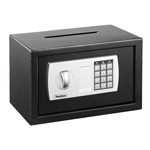 VonHaus Compact Electronic Digital Home and Office Security Solid Steel Safe with Posting Slot 9.5lbs and Key