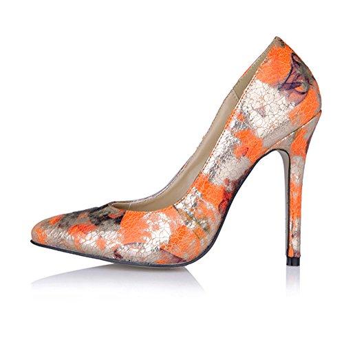 nocturne bien Golden vie des de sauvage Nouveau très ressort les chaussures Orange sur talon la chaussures rouge intéressant noir cliquez points HE7fOq