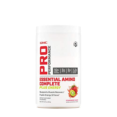 (GNC Pro Performance Essential Amino Complete Plus Energy, Strawberry Kiwi, 15.9 oz, Supports Muscle Recovery)