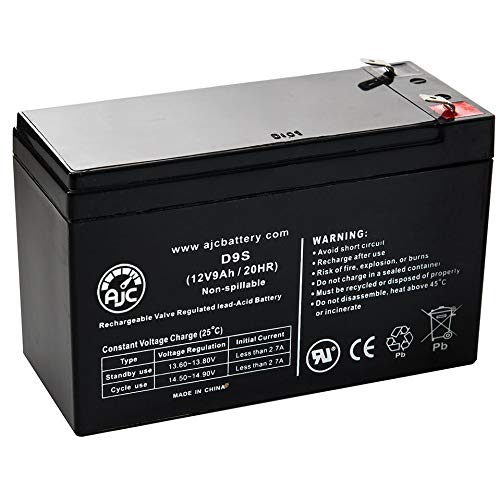 Vision CP1290 12V 9Ah UPS Battery - This is an AJC Brand Replacement