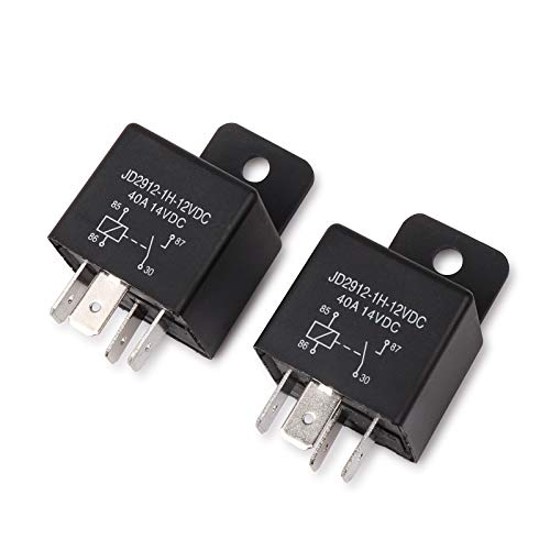 - Ehdis Car Relay 4 Pin 12v 40amp Spst Model No.: JD2912-1H-12VDC 40A 14VDC, Auto Switches & Starters, 2 Pack
