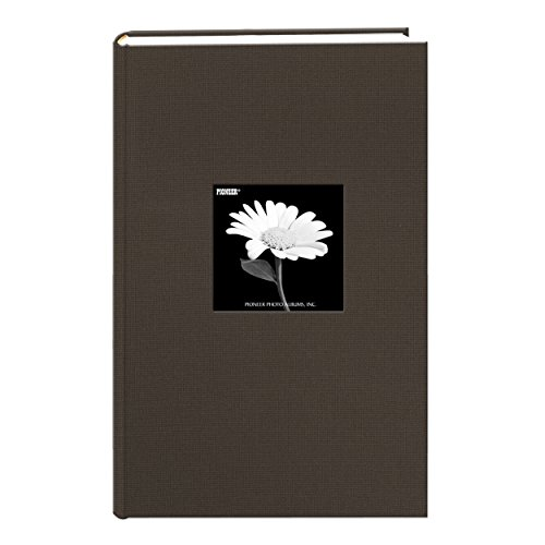 Fabric Frame Cover Photo Album 300 Pockets Hold 4x6 Photos, Warm Mocha