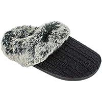 IZOD Women's Memory Foam Slippers, Winter Warm Slip On Scuff Clogs, Multiple Colors Available,Women's Size 5 to 10