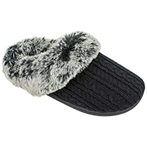 IZOD Women's Memory Foam Slippers, Winter Warm Slip On Scuff Clogs, Multiple Colors Available,Women's Size 5 to 10