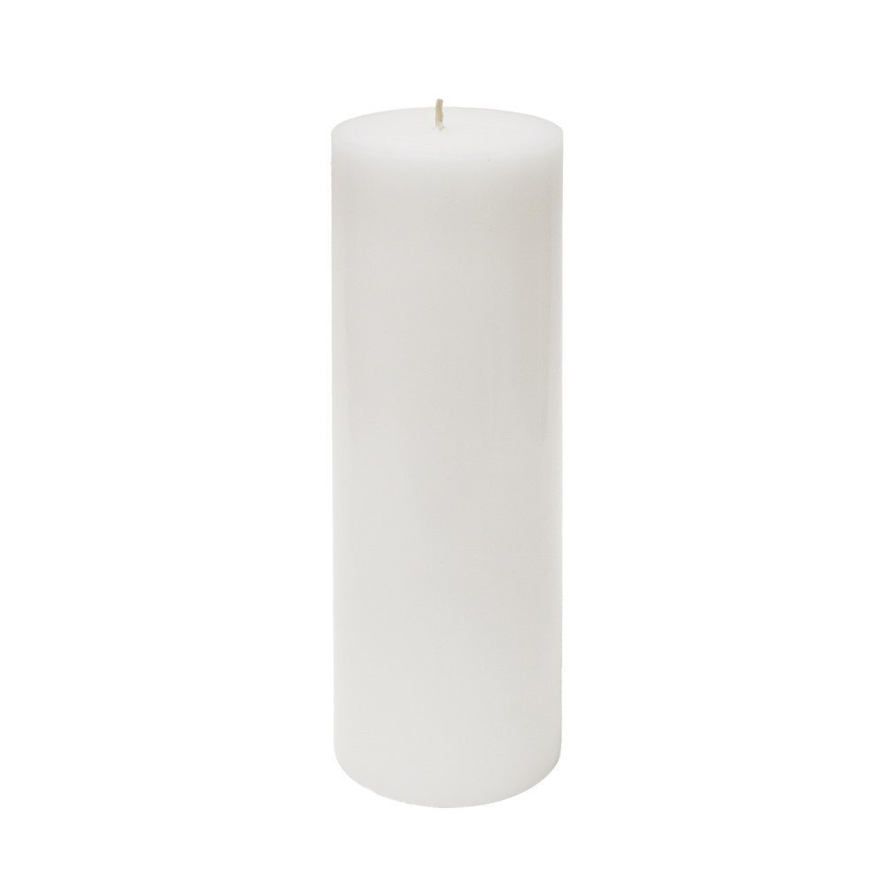 12 Pure White Solid 3x9 Pillar Candle