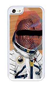 Apple Iphone 5C Case,WENJORS Adorable Spaceman No 2 Soft Case Protective Shell Cell Phone Cover For Apple Iphone 5C - TPU White