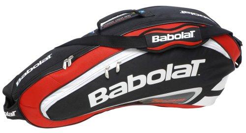 Babolat Schlägertaschen Racket Holder X3 Team Line Red, Rot, 76 x 17 x 34 cm, 27 Liter, 751056-104