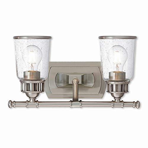 Livex Lighting 10512-91 Lawrenceville 2 Light Bath Vanity, Brushed Nickel