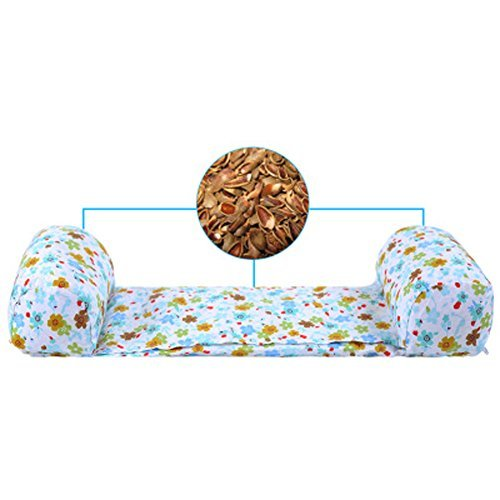 WSHINE Baby Pillow For Newborn Infant Buckwheat Core, Protection for