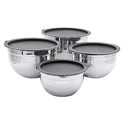 Amazon.com: Artisanal Kitchen Supply 4-piece Stainless Steel Mixing ...