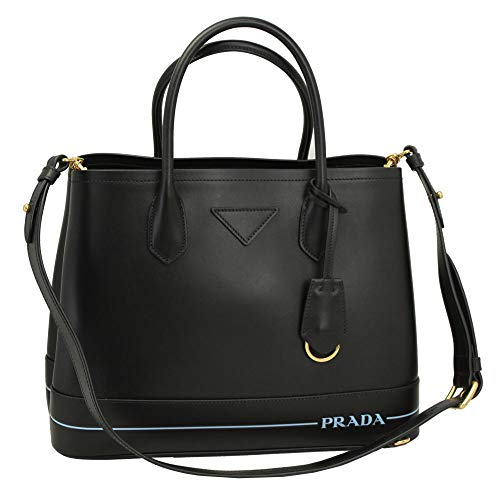 - Prada Black Leather Tote Bag With Shoulder Strap 1BG775