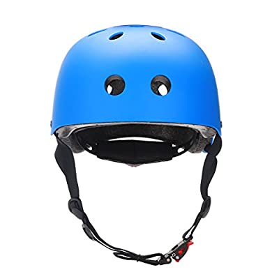 Dtown CPSC Helmet ABS Shell with 120G Inner Black EPS Foam, Matte Color, Ensure-fit : Sports & Outdoors