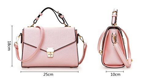 Meaeo New Square Handbag Bag Buckle Buckle Small Square Lock Bag, Pink Pink
