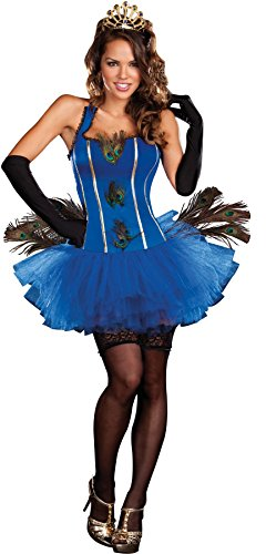 GTH Women's Royal Peacock Queen Princess Outfit Fancy Dress Sexy Costume, XL (14-16)