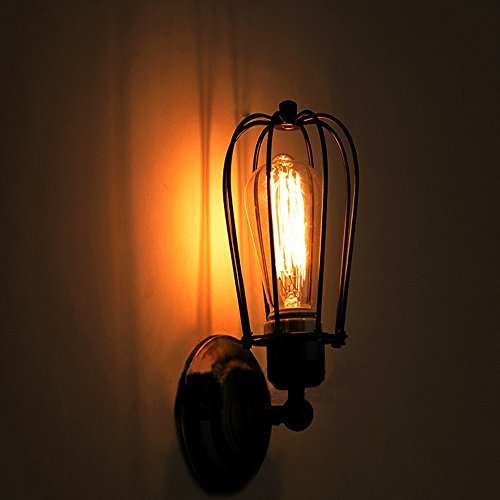 Shabby Chic Wrought Iron Black Wall Sconce Lighitng Fixture , Bathroom wall light (A)