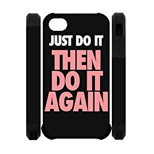 Custom Your Own Just Do It iPhone 4/4sCase , personalised Just Do It iPhone 4/4s Cover