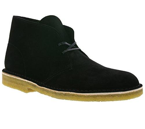 Clarks Desert Boot Chaussures en dentelle en cuir véritable pour homme Noir 26128537, Taille:46
