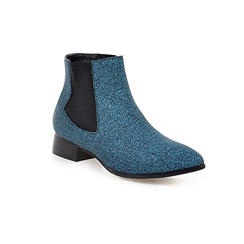 DecoStain Women's Glitter Pointed Toe Ankle Boots Size UK 1 2 3 4 5 6 7 8 9 Navy kfO74D