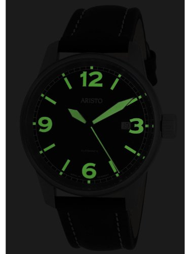 Aristo 5H67TI Titanium fodral automatisk klocka