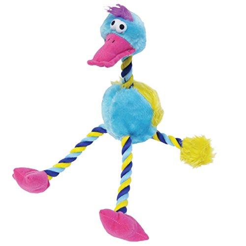 Mister Twister Dazzling Duck Blue Dog Plush Toy