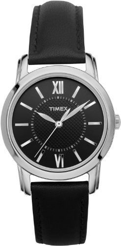 Timex Women's T2N6819J Style Classic Black Leather Strap Watch by Timex (Image #1)