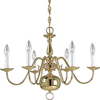 Progress lighting p4356 10 6 light americana chandelier with progress lighting p4356 10 6 light americana chandelier with delicate arms and decorative center mozeypictures Choice Image
