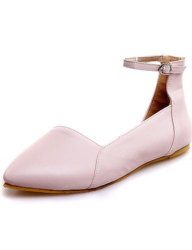 Plano Vestido Casual De 5 Uk5 Negro Tac¨®n Cn38 us7 Rosa Zapatos Semicuero Mujer 5 Eu38 Uk6 Pink Puntiagudos Eu39 Zq Exterior Planos Cn39 Beige Beige us8 1Iq8zw5x