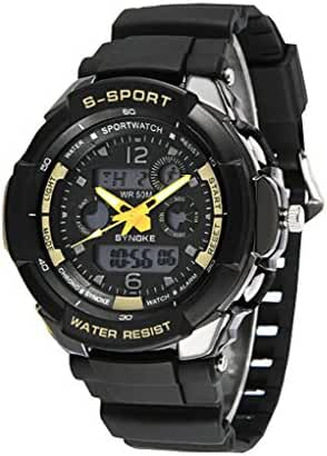 Boys Youth Outdoor Summer Digital-Analog Water ResistantSports Watches Boys Watches Swimming Watch Black
