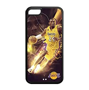 Apple iPhone 5C TPU Case with LA Lakers Kobe Bryant Image Background Design-by Allthingsbasketball