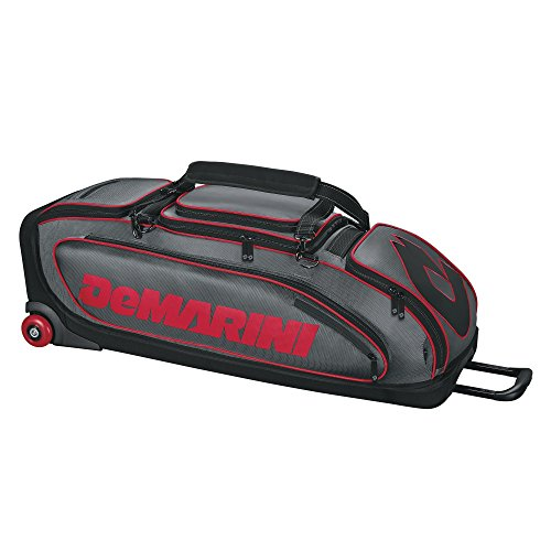 DeMarini Special Ops Wheeled Bag CharcoalScarlet