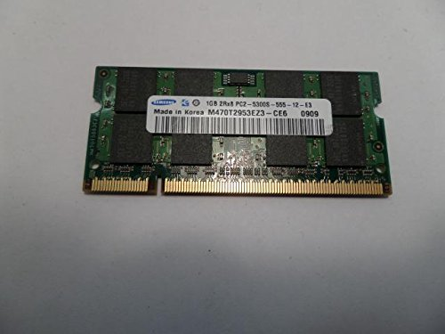 Cheap Memory 1GB 200p PC2-5300 CL5 16c 64x8 DDR2-667 SODIMM T004, Samsung, BJV, M470T2953EZ3-CE6