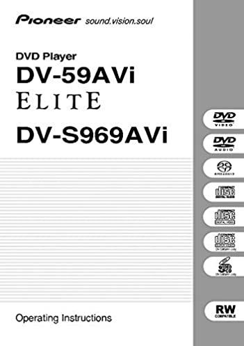 pioneer dv s969avi dvd player owners instruction manual reprint rh amazon com Sony DVD CD Player Manual Sony DVD CD Player Manual