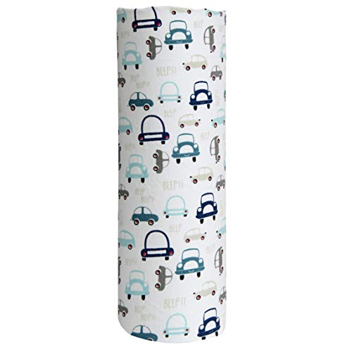 Cuddles & Cribs 1 Pack GOTS Certified Organic Cotton Fitted Crib Sheet - Turquoise, Cars