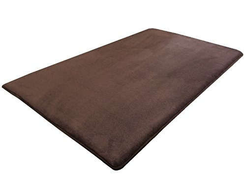 Dogbed4less Memory Foam Brown Coral Fleece Pet Dog Bed Mat pillow Topper XXLarge 54