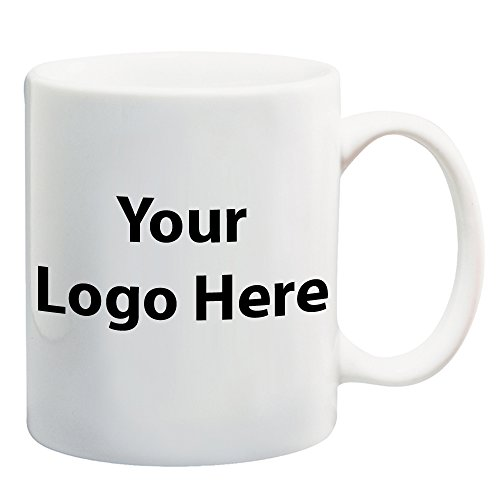 11 Oz. White Ceramic Mug - 144 Quantity - 1.49 Each - PROMOTIONAL PRODUCT/BULK with YOUR LOGO/CUSTOMIZED (Promotional Ceramic Mugs)