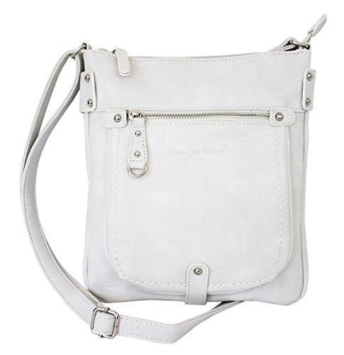 Jennifer Jones 3110 - Shoulder Bag Medium Weiss White Woman