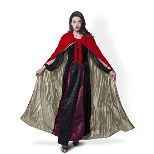 Femmes Lady Girl Kids Longueur Pleine Capuche Velvet Cape Manteau Halloween Chale De No?l Fantaisie Cape Cosplay Costumes (Couleur : Red Brown, Taille : 5XL) Coffee Red