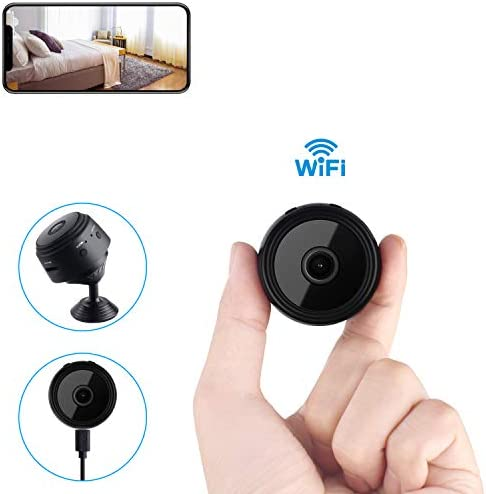 Mini Spy Camera Wireless Hidden Home WiFi Security Cameras with App, Newest Wireless WiFi HD 1080P Camera Cam with Night Vision and Motion Detective