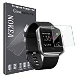[1-Pack] NOKEA Screen Protector for Fitbit Blaze Smart Watch,Tempered Glass, 2.5D Round Egde, HD Ultra Clear Film [Crystal Clear] [Easy Bubble-Free Installation] (One Pack)