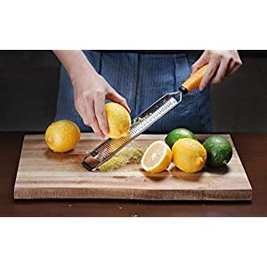 Deiss PRO Citrus Zester & Cheese Grater — Parmesan Cheese Lemon, Ginger, Garlic, Nutmeg, Chocolate, Vegetables, Fruits…
